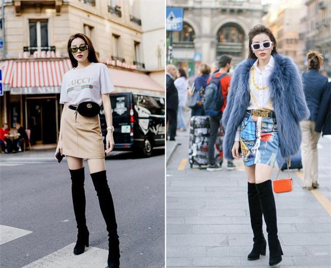 Lấn át hết mọi loại khác, boots cao đến đầu gối trở thành món đồ được diện nhiều nhất trong mùa đông năm nay - Ảnh 5.