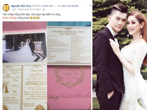 Hé lộ thiệp cưới mời 500 khách VIP của Lâm Khánh Chi và phi công kém 8 tuổi-1