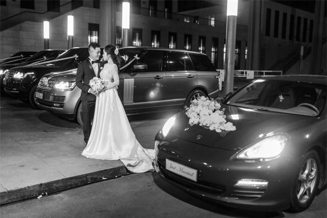 Đám cưới cổ tích với váy cưới đính 20.000 viên ngọc trai, dàn khách mời khủng và loạt xe sang của cặp đôi cậu ấm cô chiêu Hà thành - Ảnh 13.
