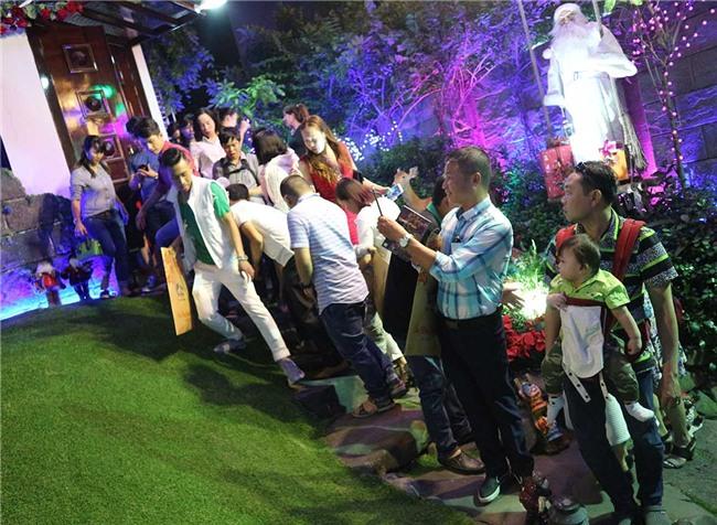 Hàng trăm người chen lấn chụp ảnh Noel tại biệt thự 3 triệu USD của Đàm Vĩnh Hưng - 9