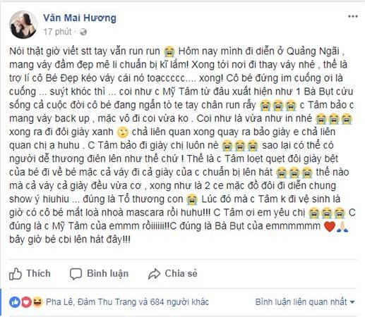 Văn Mai Hương, Mỹ Tâm, ca sĩ Văn Mai Hương