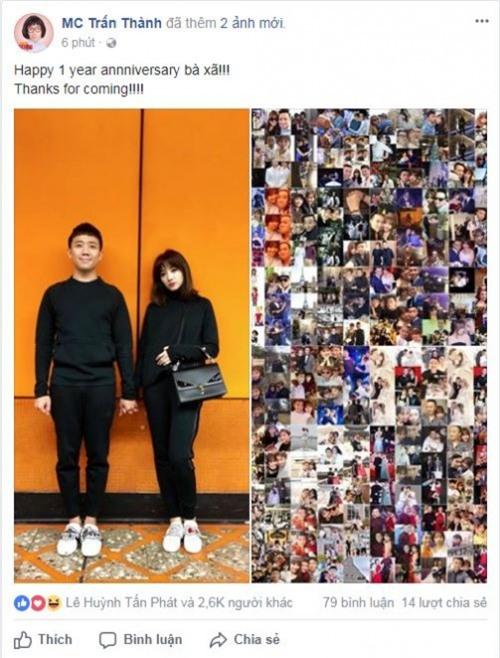 Kỷ niệm 1 năm kết hôn, Trấn Thành nhắn gửi Hari Won: 'Cảm ơn em đã đến bên anh'-1
