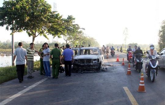 Diễn biến mới nhất vụ con gái thuê giang hồ đốt ôtô khiến cha tử vong