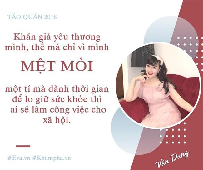 """van dung: """"nam nao toi cung ngat sau khi dien xong tao quan, bo me va chong con rat xot"""" - 14"""