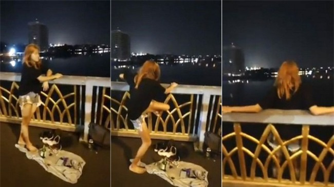 Chán nản vì thất tình, cô gái lên Facebook quay video trực tiếp cảnh nhảy xuống sông tự tử - Ảnh 1.
