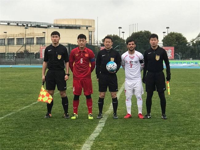 Ha Duc Chinh ghi ban, U23 Viet Nam hoa Palestine o tran giao huu hinh anh 1