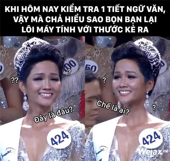 """Biểu cảm lúc đăng quang không rõ """"cười hay mếu"""" của Tân hoa hậu Hoàn vũ H'Hen Niê lại thành nguồn chế ảnh bất tận! - Ảnh 8."""