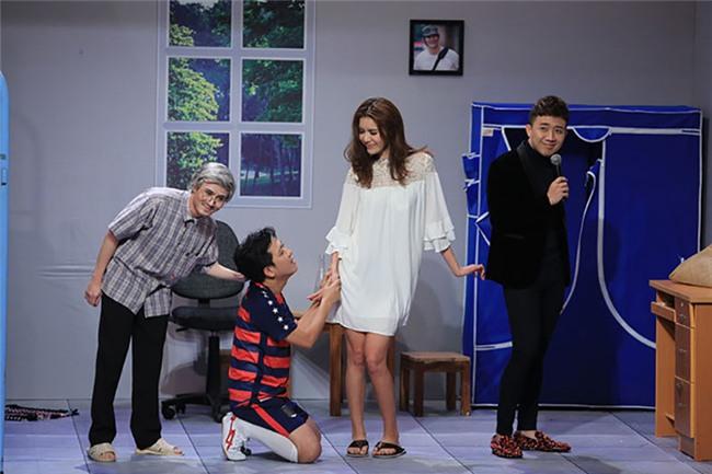 Ơn giời: Minh Tú chê chiều cao hạn chế của Trường Giang