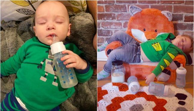 """Cận cảnh khuôn mặt hạnh phúc của những em bé """"phê"""" sữa sau khi bú mẹ - Ảnh 12."""