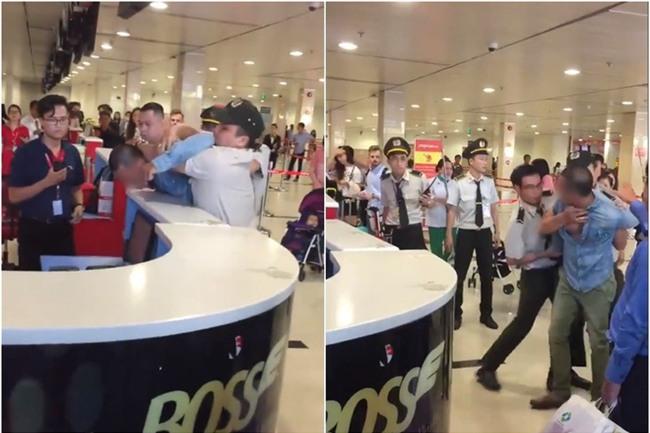 Clip khách nam quát mắng, xông vào nữ nhân viên ở sân bay vì cho rằng bị bắt xếp hàng nên check-in muộn, Vietjet nói gì? - Ảnh 1.
