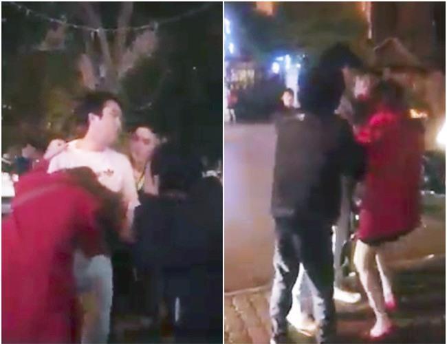 Clip người phụ nữ bị chồng túm tóc, lôi ra khỏi taxi vì bỏ con ốm ở nhà để đi cùng người đàn ông Hàn Quốc gây xôn xao