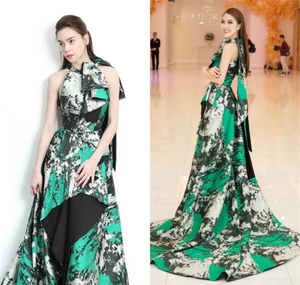 Tường Linh khiến fan lo lắng khi liên tục chọn váy cũ của Hà Hồ để lên đường thi thố nhan sắc-11
