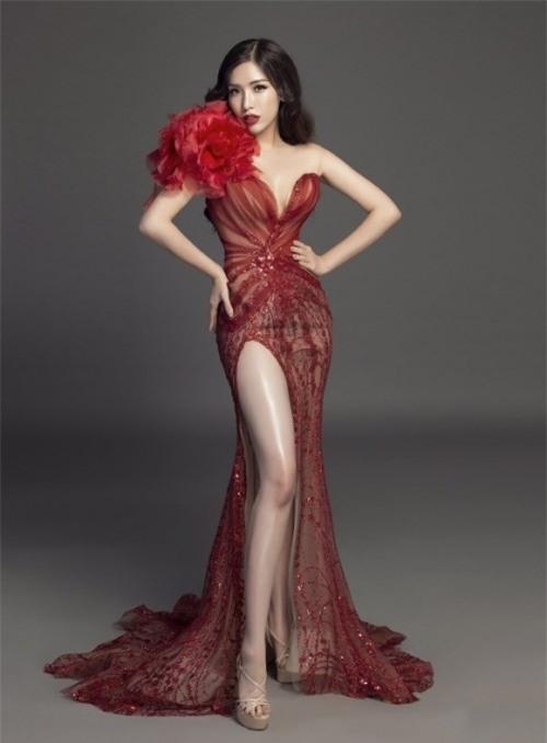 Tường Linh khiến fan lo lắng khi liên tục chọn váy cũ của Hà Hồ để lên đường thi thố nhan sắc-2