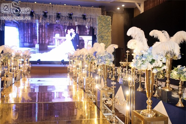 Không gian tiệc cưới hoành tráng của Lâm Khánh Chi-4