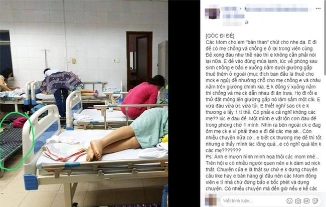 Chuyện chồng thuê giường gấp cho vợ mới đẻ nằm, ép nhường giường bệnh viện cho bà nội ngủ cùng cháu khiến chị em dậy sóng - Ảnh 1.