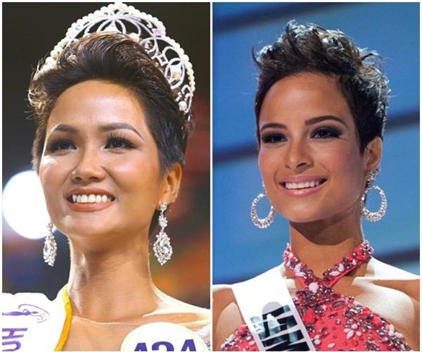 Đứng cạnh Á hậu Hoàn vũ Thế giới, HHen Niê bên 10, bên 8 đẹp chẳng kém bản chính-3
