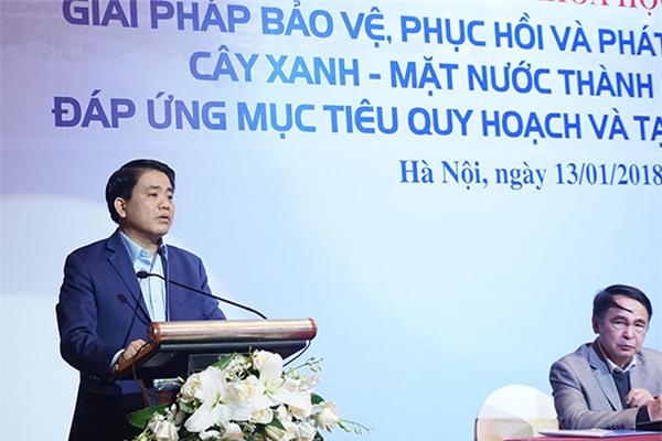 Chủ tịch Hà Nội,Nguyễn Đức Chung,cây xanh,chặt cây