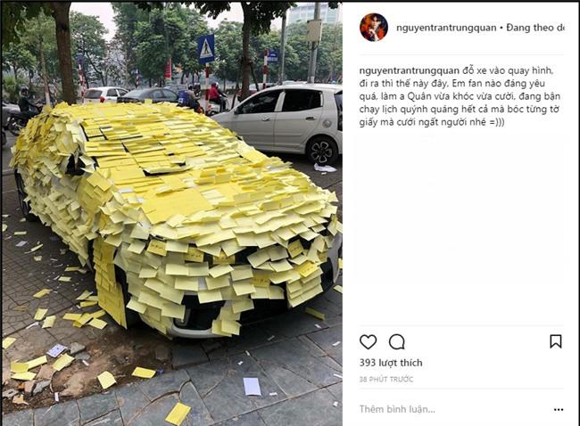 Ghen tuông với Nhã Phương, fan cuồng dán giấy đầy xe của Nguyễn Trần Trung Quân để tỏ tình-8