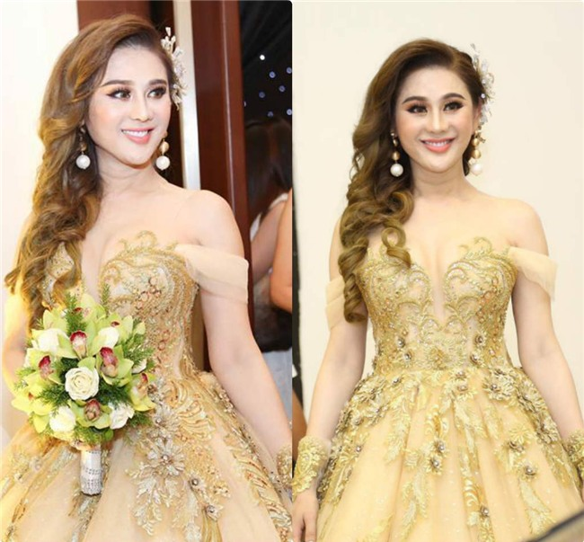 """lam khanh chi dep muot mat khoe nguc day trong """"dam cuoi the ky"""" hinh anh 1"""