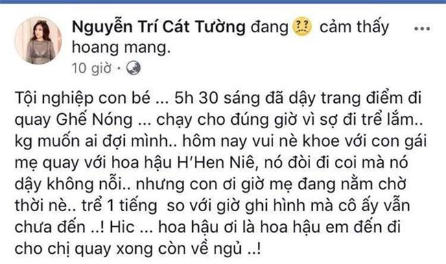 Cat Tuong than tho vi Hoa hau H'Hen Nie toi truong quay tre 1 tieng hinh anh 1