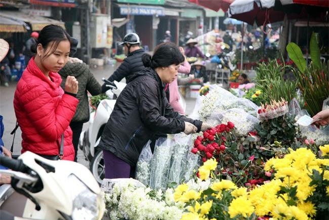 Hà Nội: Ngày mùng 1 âm lịch cuối cùng trong năm, hoa tươi đắt hàng - Ảnh 7.