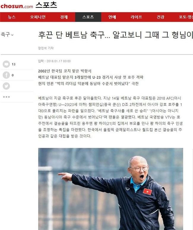 U23 Việt Nam thành tin nóng trên báo Hàn Quốc - Ảnh 2.