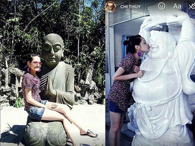 Chi Pu xin lỗi khán giả vì những bức ảnh khiếm nhã với tượng Phật-1