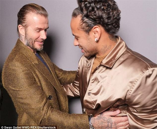 Neymar - Beckham, khi hai biểu tượng thời trang hội ngộ ở Paris - Ảnh 1.