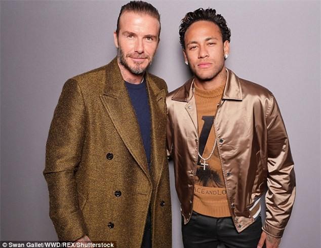 Neymar - Beckham, khi hai biểu tượng thời trang hội ngộ ở Paris - Ảnh 2.
