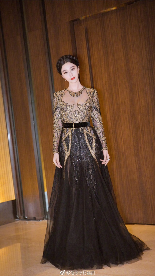 Phạm Băng Băng được mời làm khách trong một sự kiện thời trang tại Thái Lan, tối 18/1.