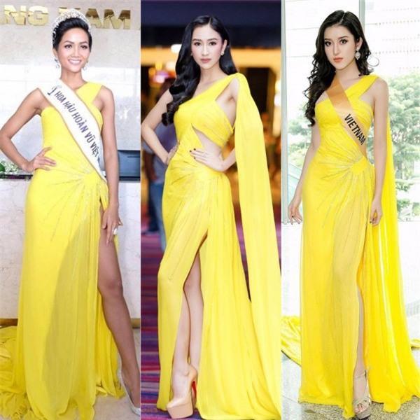 Kể từ khi đăng quang, từ Hoa hậu HHen Niê cho đến 2 Á hậu Hoàn vũ cứ mải miết dùng lại đồ cũ - Ảnh 5.