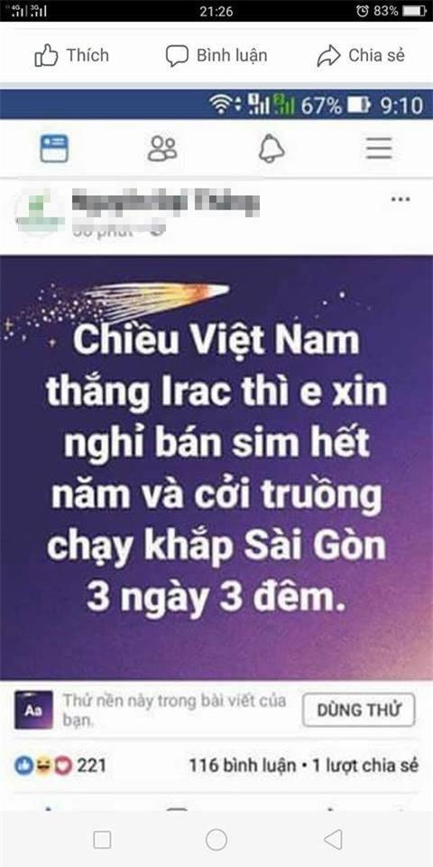 "cuoi ra nuoc mat voi loi hua ""khoa than chay khap pho neu u23 viet nam chien thang"" - 2"