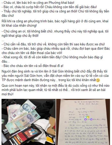 Chuyện cổ tích của 9x Hà Nội bị giật túi ở giữa Sài Gòn - Ảnh 1.