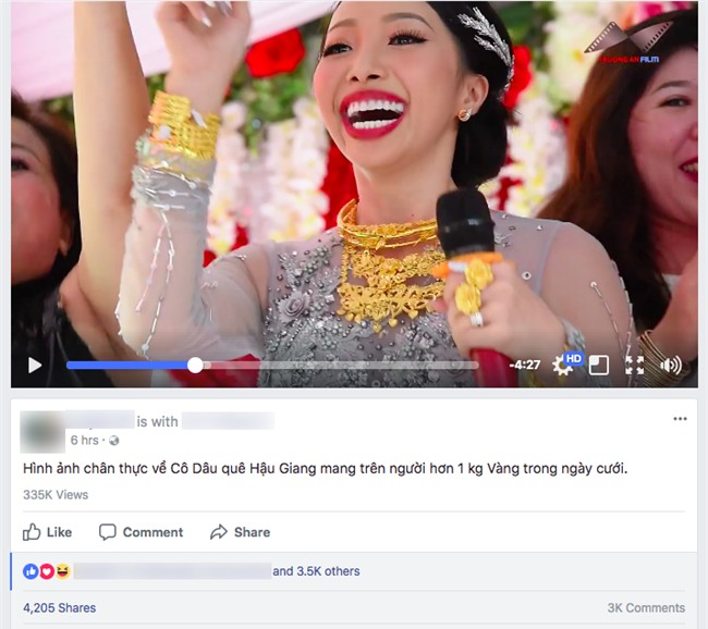 Clip: Cô dâu ở Hậu Giang mang trên người hơn 1kg vàng, quẩy tưng bừng trong đám cưới - Ảnh 2.