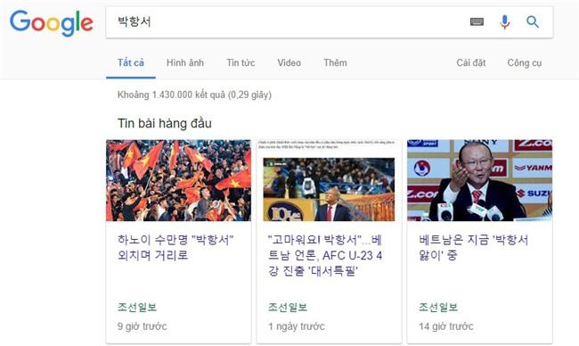 U23 Việt Nam lập kỳ tích, HLV Park Hang Seo được tìm kiếm chóng mặt ở Hàn Quốc - Ảnh 1.