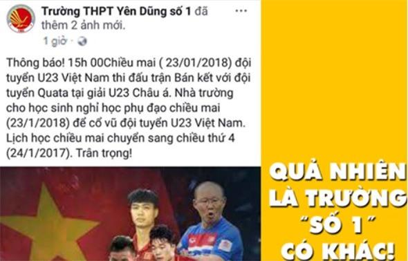 Nam sinh xin nghi hoc de xem doi tuyen U23 Viet Nam da ban ket? hinh anh 2