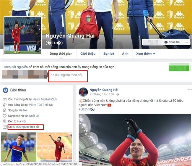 Facebook tiền vệ Quang Hải tăng 40.000 follower chỉ 2 tiếng sau trận bán kết thế kỷ-1
