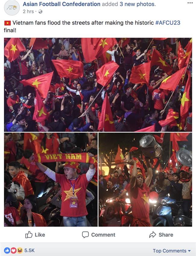 Đến AFC cũng đưa tin về cơn bão của người hâm mộ Việt Nam - Ảnh 1.