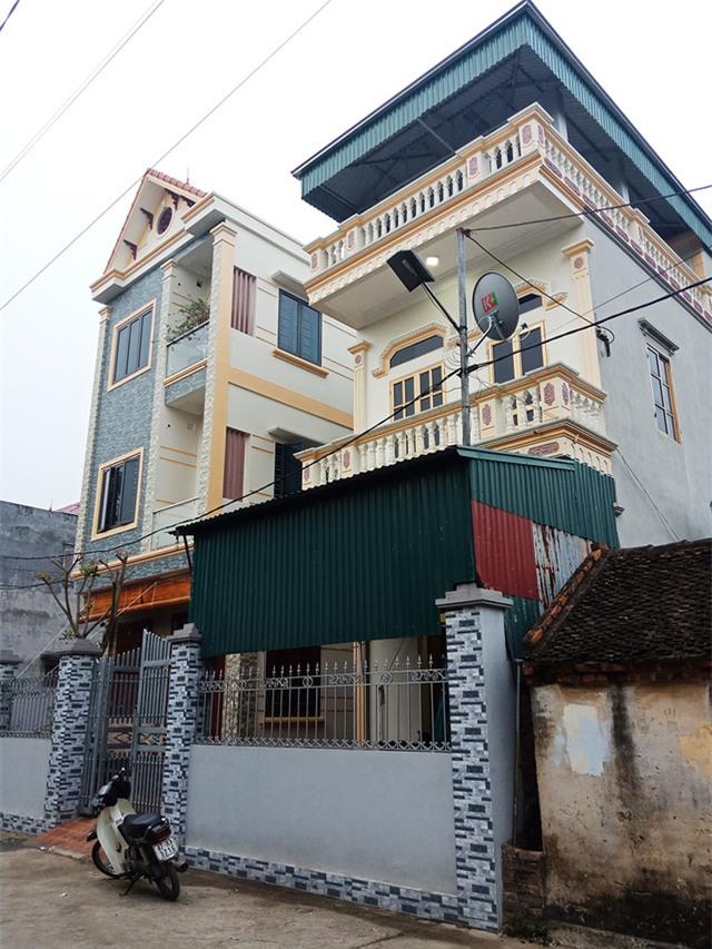ngôi nhà của cầu thủ Quang Hải (ở thôn Đường Nhạn, xã Xuân Nộn, huyện Đông Anh).