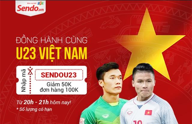 Nhiều khuyến mãi khủng, voucher giảm giá được đưa ra để chúc mừng chiến thắng lịch sử của đội tuyển U23 Việt Nam.