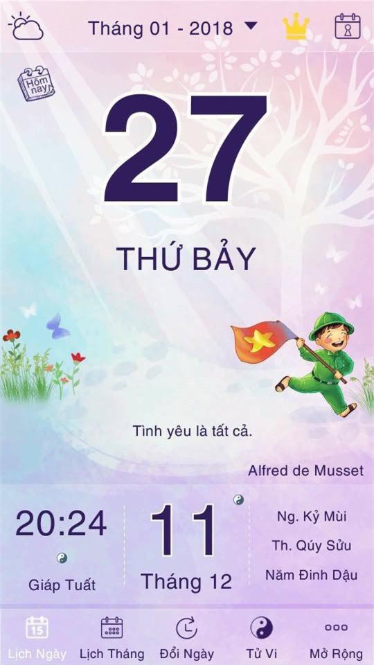 Cộng đồng mạng thi nhau khoe ảnh lịch ngày 27/1 để tiên đoán kết quả cho U23 Việt Nam