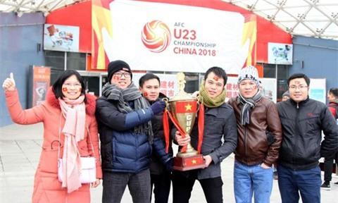 Một không khí rất khác trước ngày diễn ra trận chung kết U23 Châu Á: Màu cờ sắc áo đã tràn ngập khắp phố phường! - Ảnh 25.