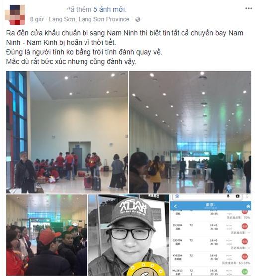 Cổ động viên Việt Nam lỡ hẹn chung kết U23 vì tuyết phủ trắng Thường Châu, nhiều chuyến bay bị huỷ  - Ảnh 1.