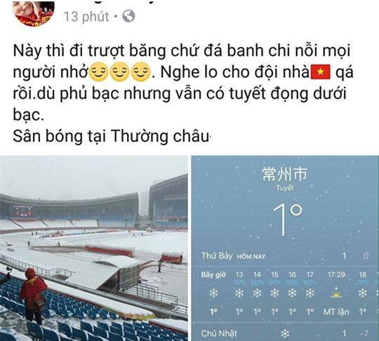 2 tiếng trước trận đấu, trên mạng xã hội người lo lắng tuyết rơi hoãn đấu, người tranh thủ mua đồ nhậu đợi giờ G - Ảnh 3.