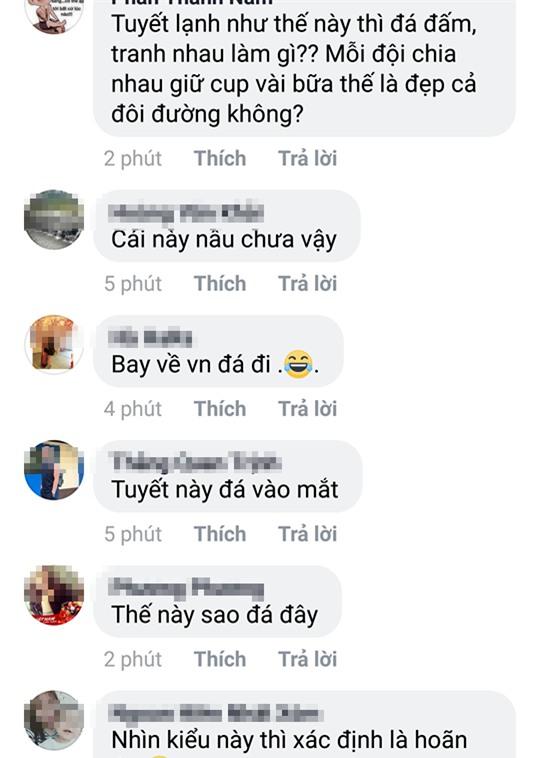 2 tiếng trước trận đấu, trên mạng xã hội người lo lắng tuyết rơi hoãn đấu, người tranh thủ mua đồ nhậu đợi giờ G - Ảnh 5.