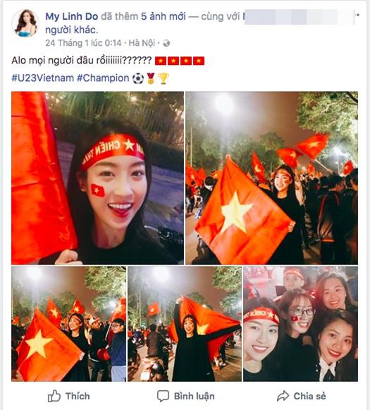 Hoa hậu Đỗ Mỹ Linh biến mất không dấu vết trong suốt trận đấu chung kết của đội tuyển U23 Việt Nam - Ảnh 1.