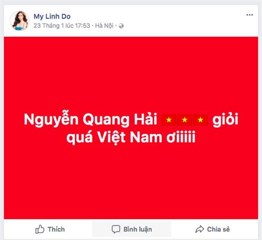 Hoa hậu Đỗ Mỹ Linh biến mất không dấu vết trong suốt trận đấu chung kết của đội tuyển U23 Việt Nam - Ảnh 4.