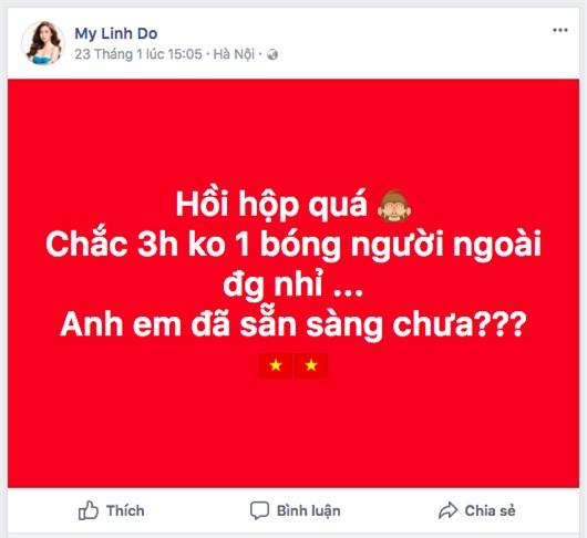 Hoa hậu Đỗ Mỹ Linh biến mất không dấu vết trong suốt trận đấu chung kết của đội tuyển U23 Việt Nam - Ảnh 6.