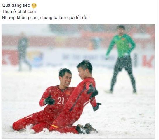Dân mạng gửi ngàn lời động viên đến những người hùng U23 Việt Nam - Ảnh 2.