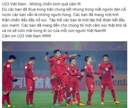 Dân mạng gửi ngàn lời động viên đến những người hùng U23 Việt Nam - Ảnh 8.